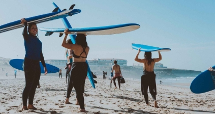 Surf therapy, and yoga on the beach. Orange County California BY SERENE WATERS ADVENTURE THERAPY